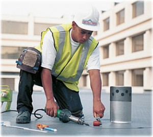 clark's quality roofing worker